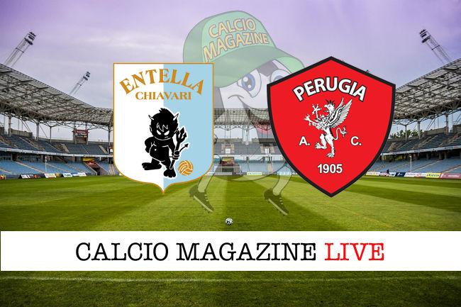 Virtus Entella Perugia cronaca diretta live risultato in tempo reale