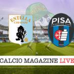 Virtus Entella Pisa cronaca diretta live risultato in tempo reale