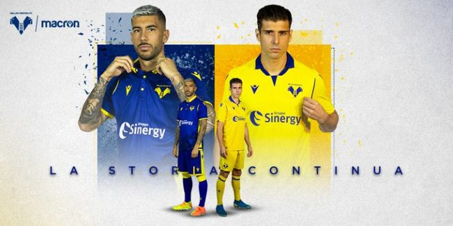 L'Hellas Verona presenta le nuove maglie per la stagione 2020/2021