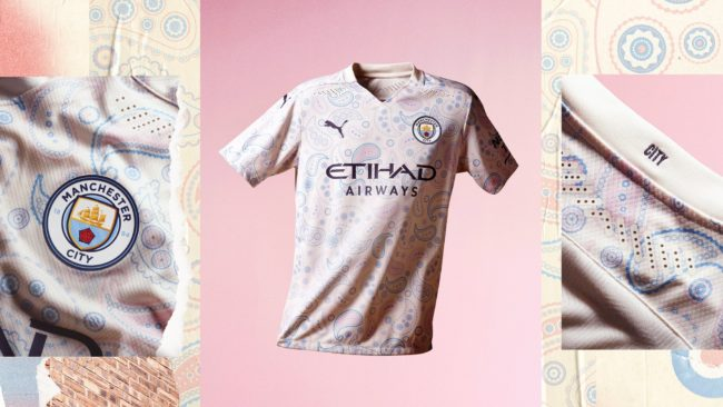 Il Manchester City presenta la terza maglia per la stagione 2020/2021