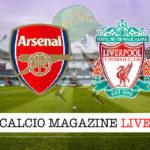 Arsenal Liverpool cronaca diretta live risultato in tempo reale