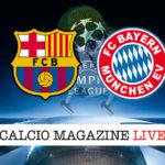 Barcellona Bayern Monaco cronaca diretta live risultato in tempo reale