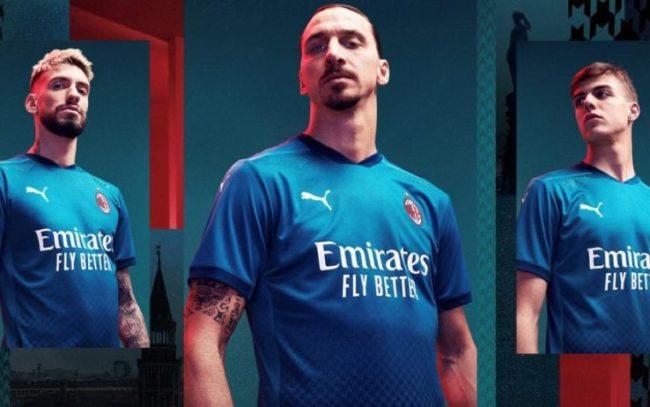 Il Milan presenta la terza maglia 2020/2021: le immagini in esclusiva
