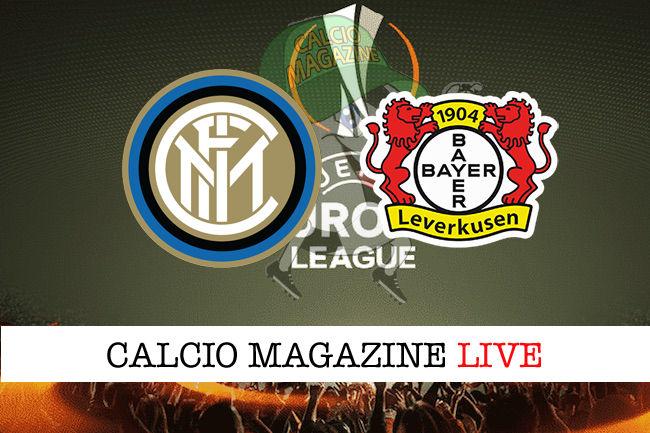 Inter Bayer Leverkusen cronaca diretta live risultato in tempo reale