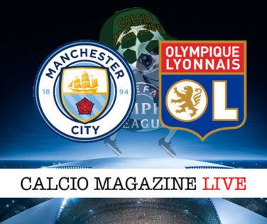 Manchester City Lione cronaca diretta live risultato in tempo reale
