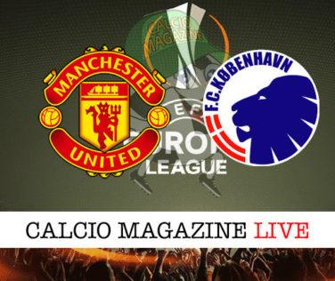 Manchester United Copenhagen cronaca diretta live risultato in tempo reale