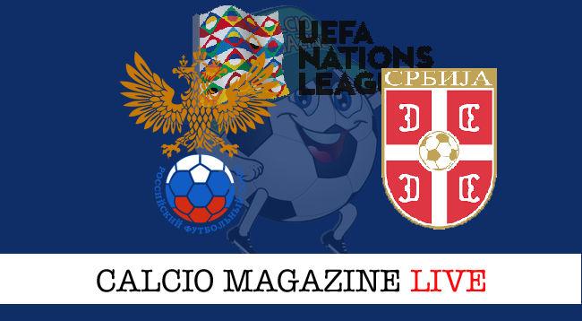 Russia Serbia cronaca diretta live risultato in tempo reale