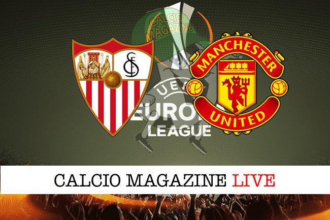 Siviglia Manchester United cronaca diretta live risultato in tempo reale