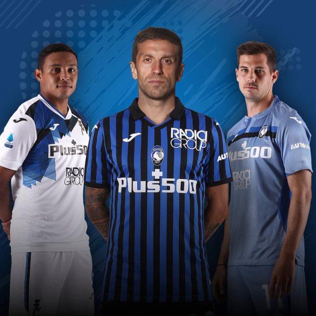 L'Atalanta presenta le nuove maglie per la stagione 2020/2021 [FOTO]