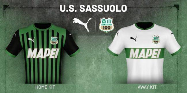 Il Sassuolo presenta le nuove maglie per la stagione 2020/2021