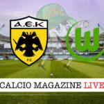 Aek Atene Wolfsburg cronaca diretta live risultato in tempo reale