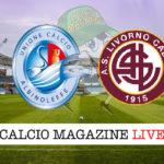 AlbinoLeffe Livorno cronaca diretta live risultato in tempo reale