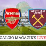 Arsenal West Ham Palace cronaca diretta live risultato in tempo reale