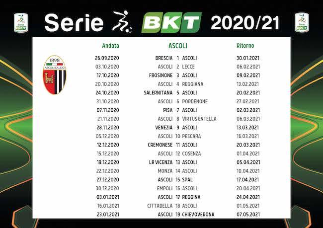 Calendario Ascoli 2021 Calendario Ascoli 2020/2021: tutte le partite | Calciomagazine