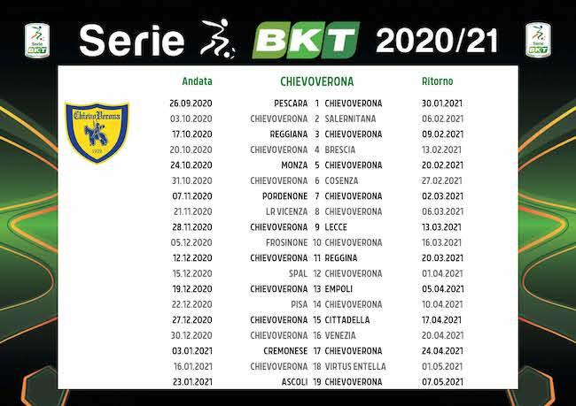 Calendario ChievoVerona 2020/2021: tutte le partite