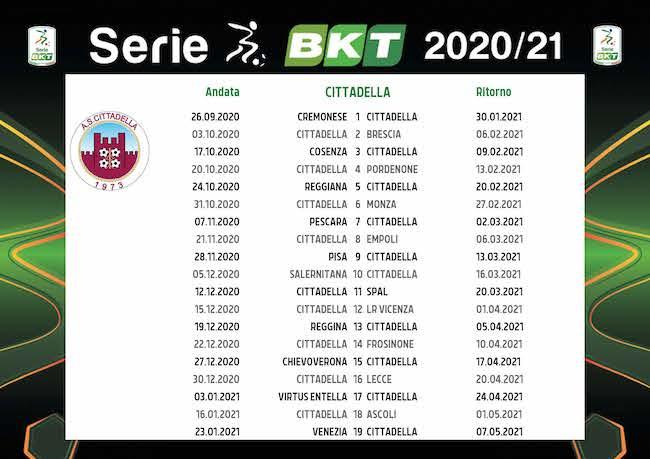 Calendario Cittadella 2020/2021: tutte le partite | Calciomagazine