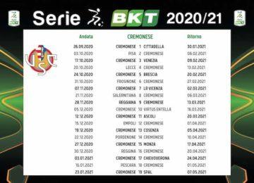 Calendario Cremonese 2020/2021: tutte le partite