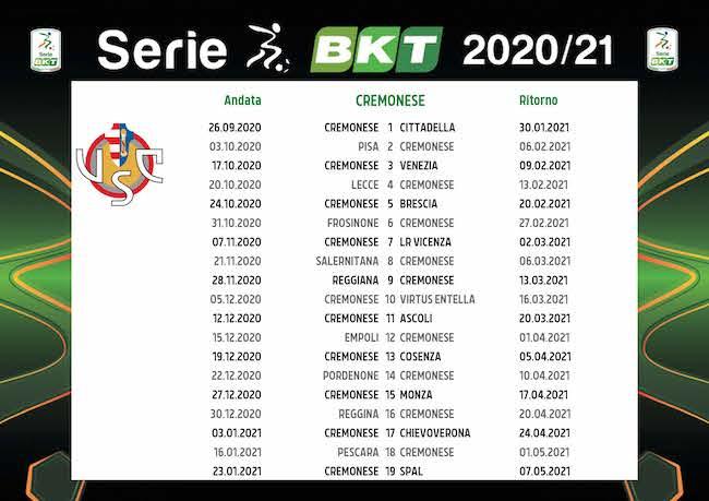 Calendario Cremonese 2020/2021: tutte le partite | Calciomagazine
