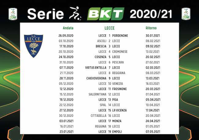 Calendario Lecce 2020/2021: tutte le partite | Calciomagazine