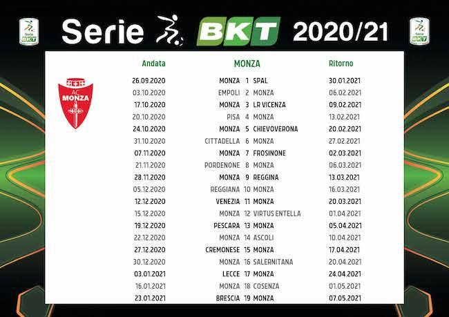 Calendario Monza 2020/2021: tutte le partite | Calciomagazine