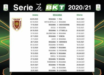Calendario Reggiana 2020/2021: tutte le partite