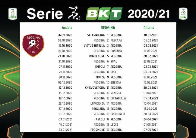 Calendario Reggina 2020/2021: tutte le partite