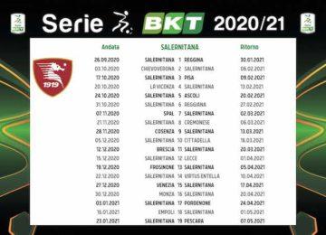 Calendario Salernitana 2020/2021: tutte le partite