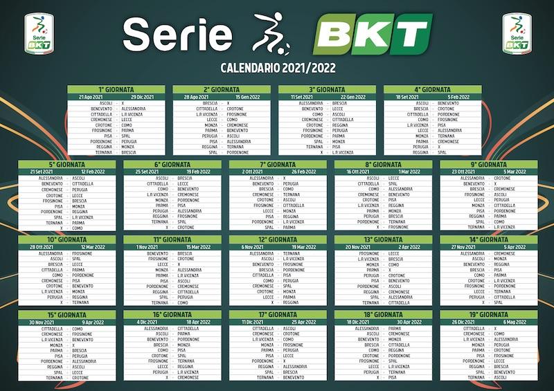 calendario Serie B 2021-2022