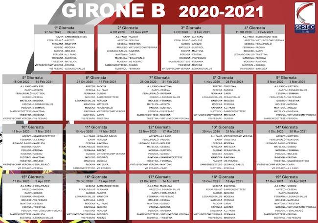 Calendario Serie C   Girone B 2020/2021