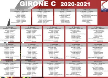 calendario serie c girone c 2020-2021