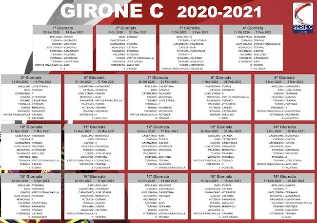 Calendario Serie C   Girone C 2020/2021