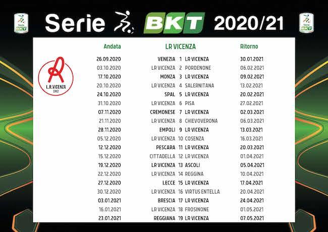 Calendario Vicenza 2020/2021: tutte le partite