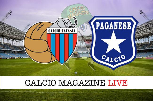 Catania Paganese cronaca diretta live risultato in tempo reale