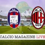 Crotone Milan cronaca diretta live risultato in tempo reale