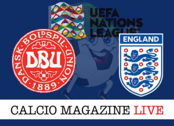 Danimarca Inghilterra cronaca diretta live risultato in tempo reale