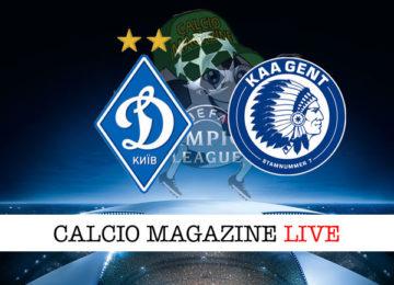 Dinamo Kiev Gent cronaca diretta live risultato in tempo reale
