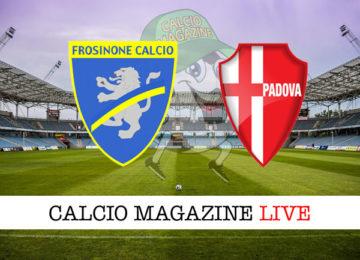Frosinone Padova cronaca diretta live risultato in tempo reale