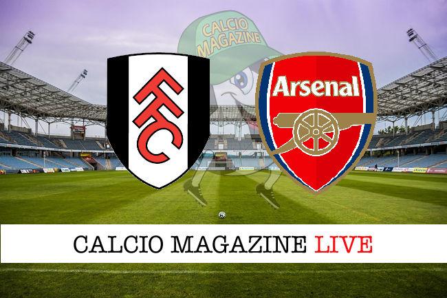 Fulham Arsenal cronaca diretta live risultato in tempo reale