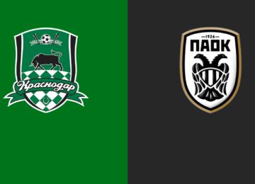 Champions League, diretta Krasnodar - PAOK: risultato in tempo reale