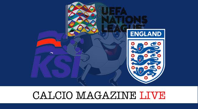 Islanda Inghilterra cronaca diretta live risultato in tempo reale