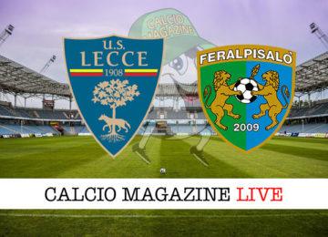 Lecce FeralpiSalò cronaca diretta live risultato in tempo reale