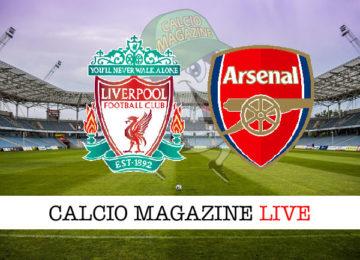 Liverpool Arsenal cronaca diretta live risultato in tempo reale