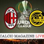Milan Bodo/Glimt cronaca diretta live risultato in tempo reale