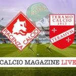 Piacenza Teramo cronaca diretta live risultato in tempo reale