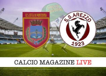 Pontedera Arezzo cronaca diretta live risultato in tempo reale