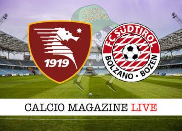 Salernitana Sudtirol cronaca diretta live risultato in tempo reale