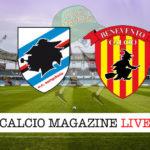 Sampdoria Benevento cronaca diretta live risultato in tempo reale