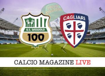 Sassuolo Cagliari cronaca diretta live risultato in tempo reale