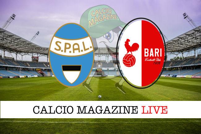 SPAL Bari cronaca diretta live risultato in tempo reale
