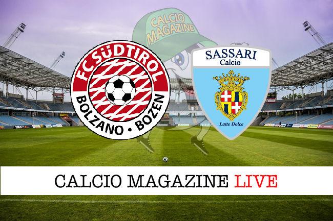 Sudtirol Sassari Latte Dolce cronaca diretta live risultato in tempo reale